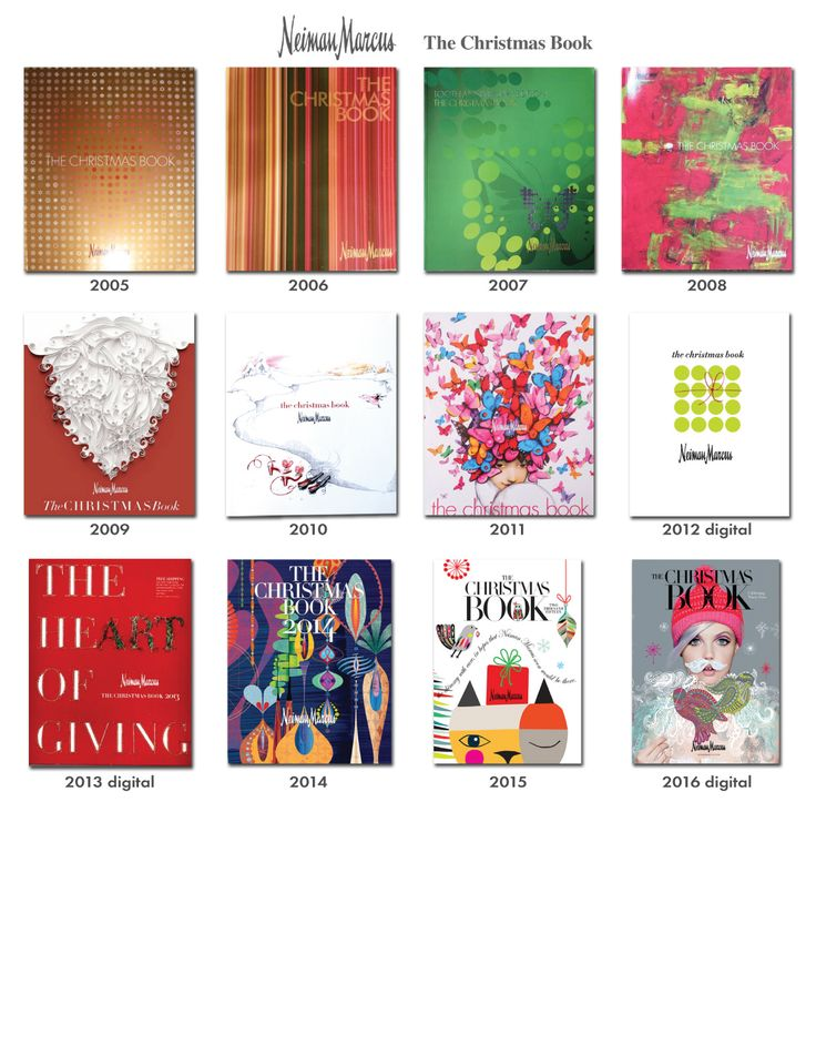 Reference Guide Collection of NM Neiman Marcus Holiday Christmas Book Catalog Covers 2005 - 2016