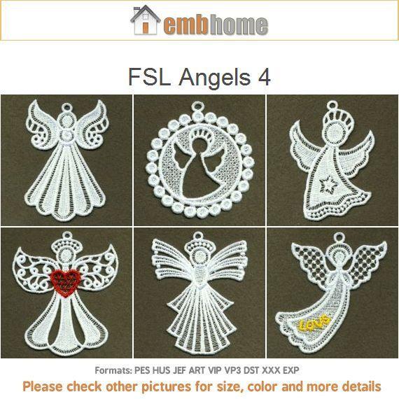 FLS anges Noël Nativité ornements permanent dentelle Machine Embroidery Designs instantanée Téléchargement gratuit des…