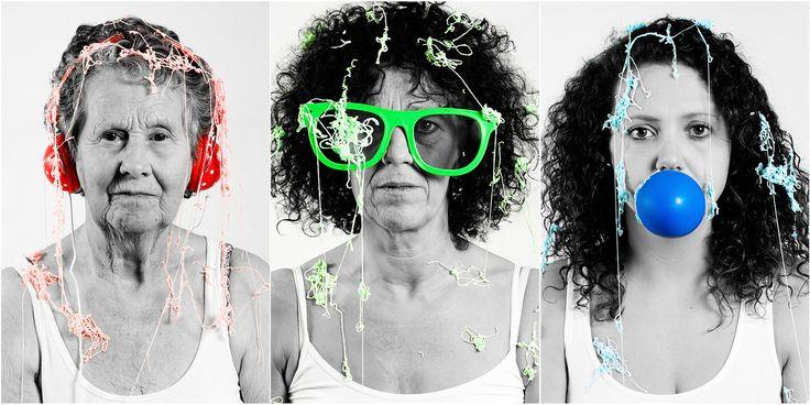 Drie-generatie portret RGB horen-zien-zwijgen Eindhoven. Foto door Marijke Krekels fotografie