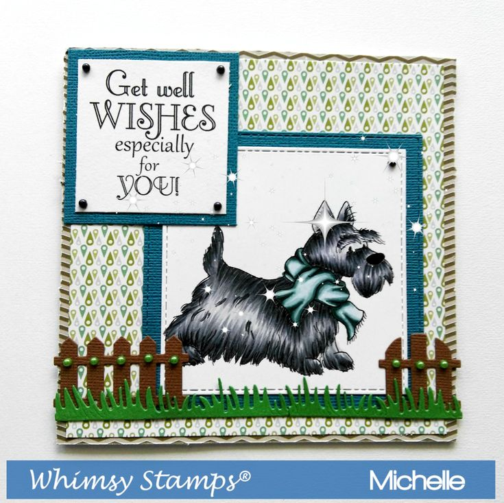 Scottish Terriers By Whimsy Stamps