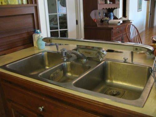 Kitchen:Vintage Apron Country Kitchen Sink Craigslist With Backsplash  Kohler Irwell Retro Sinks Base 1940 Style Ideas Cast Iron Drain.