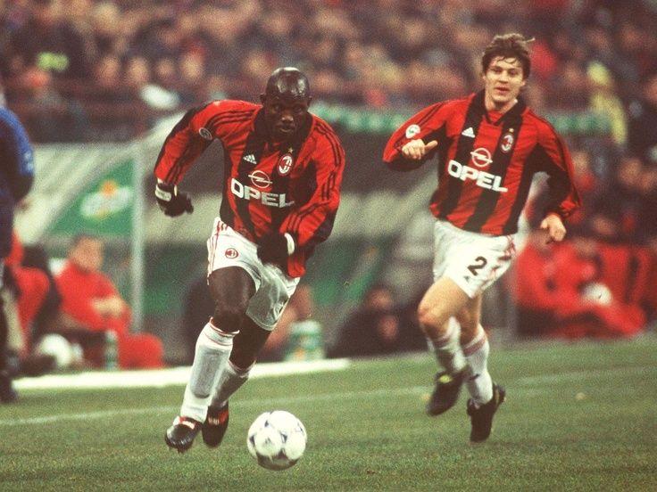 George Weah et Thomas Helveg (AC Milan)