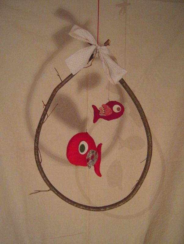 mobile deux poissons rouge                              …