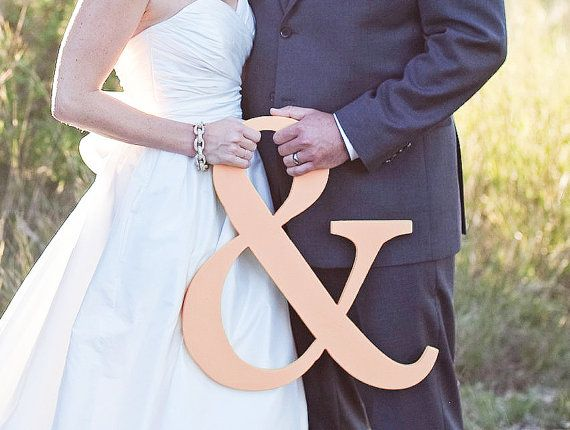 Ampersand Sign - Blush Pink 15 inch Ampersand Sign for Photography - Wooden Ampersand Sign Wedding Sign Photo Prop (Item - AMP150)