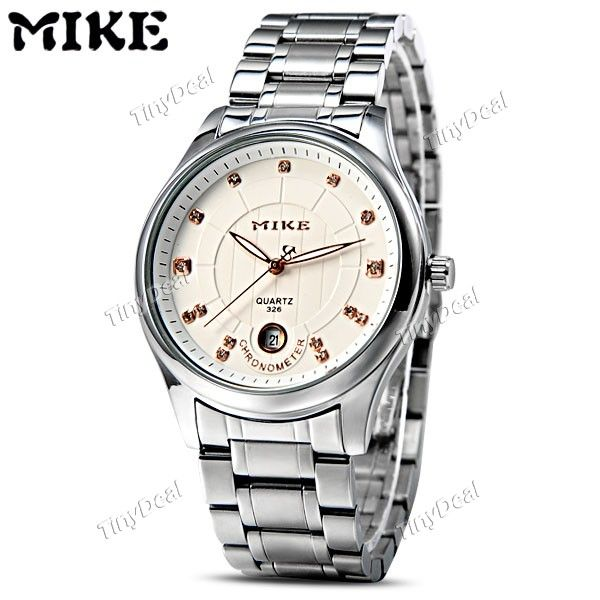 http://www.tinydeal.com/it/mike-stainless-steel-quartz-watch-w-calendar-for-men-p-116571.html  (MIKE) Quartz Analog Watch Wristwatch Timepiece with Stainless Steel Band