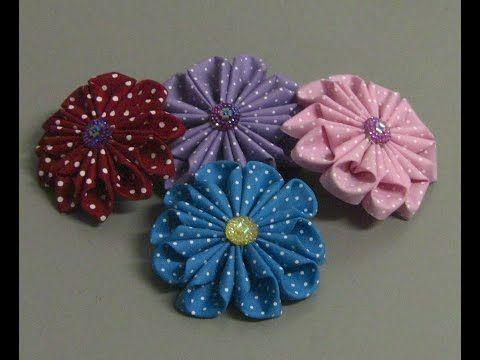 Flor em tecido com 11 pétalas Passo a Passo - Fabric flower tutorial