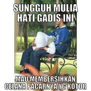Gadis ini membersihkan celana pacarnya yang kotor - Pram from https://www.pram-software.com | #meme #indonesia #pelajar #gadis