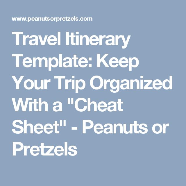 The 25+ Best Travel Itinerary Template Ideas On Pinterest | Travel