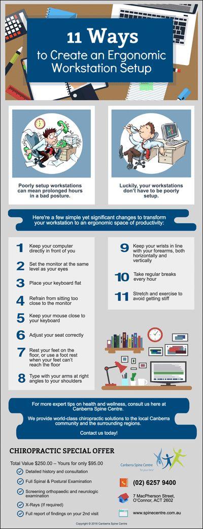 11 Ways to Create an Ergonomic Workstation Setup www.spinecentre.com.au