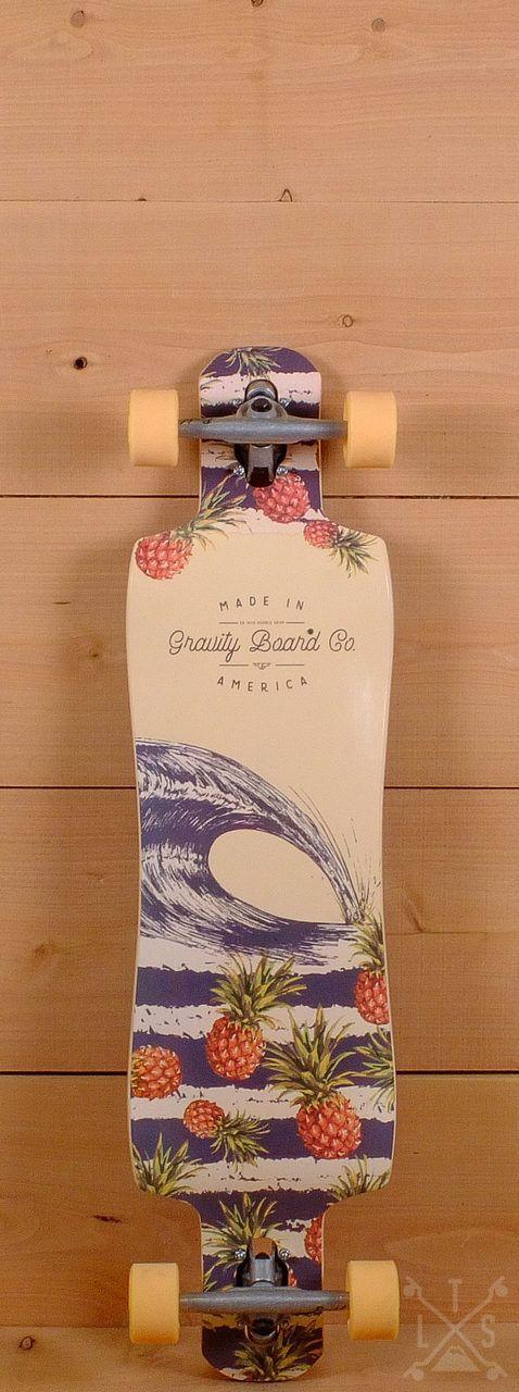 """Gravity 38"""" Double Drop Pineapple Express Longboard"""