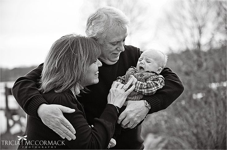 Family photo session. Grandparents with baby.  www.triciamccormackphotography.com  Photography in the Berkshires, MA