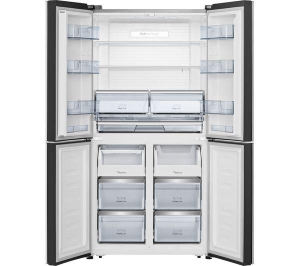 Buy Hisense Rq689n4bf1 Fridge Freezer Black Stainless Steel Free Delivery Currys Fridge Freezers Dishwasher White Stainless Steel Fridge