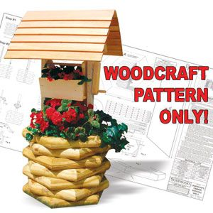 Landscape timber wishing well plans free woodworking for Landscape timber projects free plans