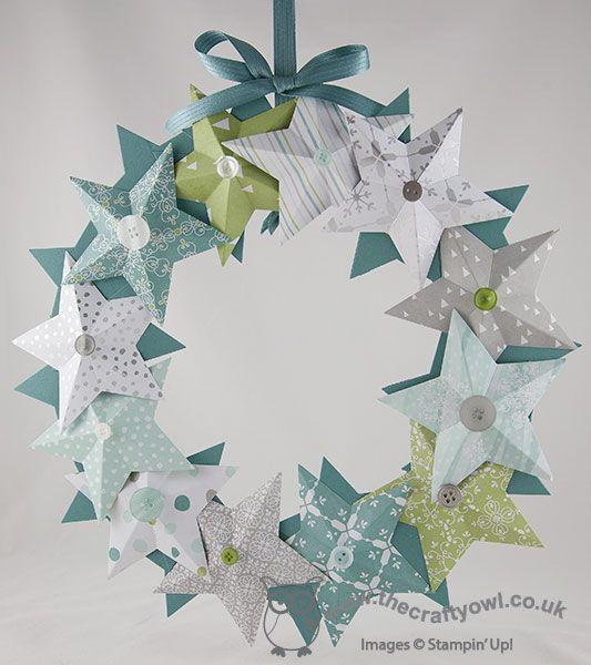All is Calm Star Christmas Wreath