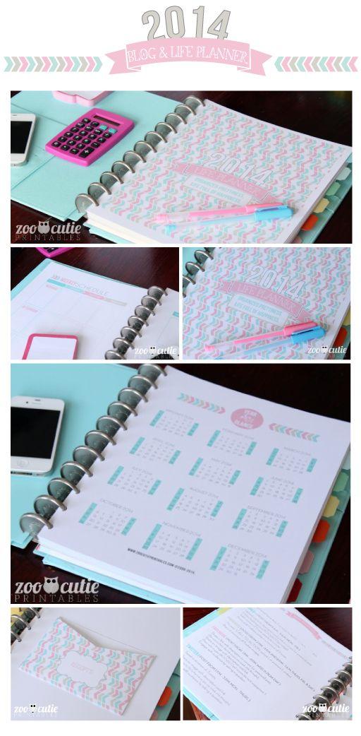 Organized Prettiness, Life Full of Happiness Organizer Planner #printables #dailyplanner #bloggerprintables