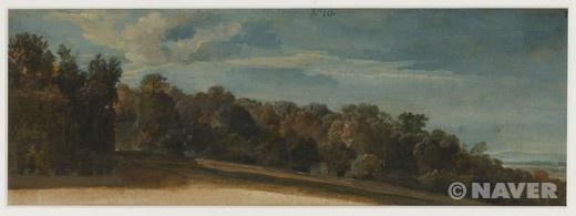 구름이 있는 하늘의 가을 숲 (Bois en automne avec ciel nuageux) 데포르트 르 페르 작품.     너무나 아름답고 평화로운 기분이다.