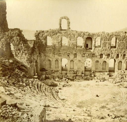 [Odeum of Herodes Atticus at the Acropolis, Athens] 19th Century Images of Greece and the Near East