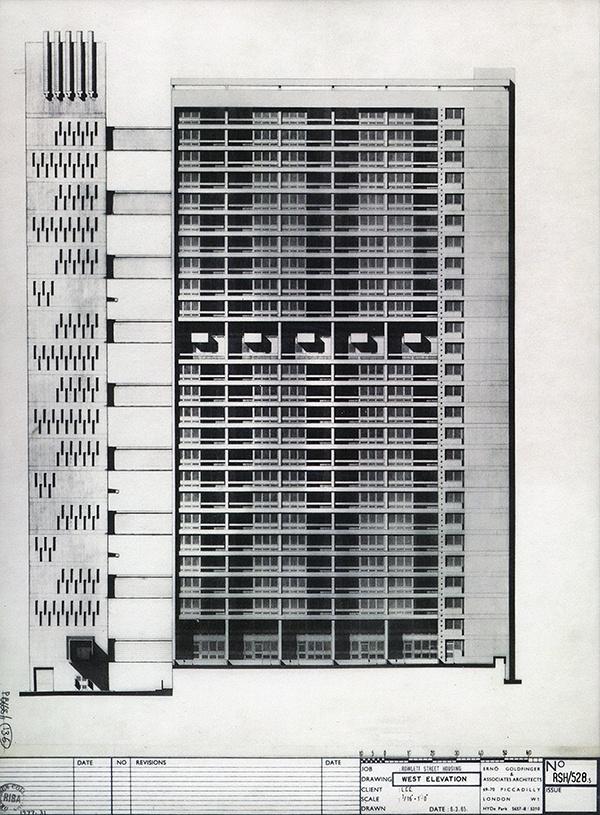 43 best british post war architecture erno goldfinger images on west elevation blueprint malvernweather Choice Image