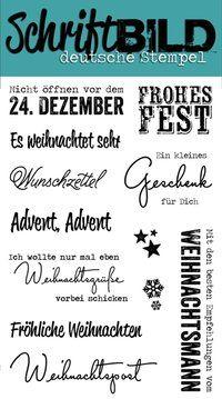 SchriftBILD Stempel: Weihnachtspost (by Sylvia) - Scrapabilly