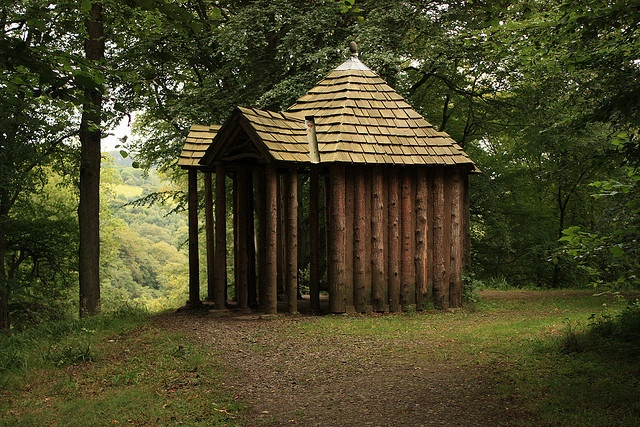 One of the victorian summer houses that has been recreated from old photographs.