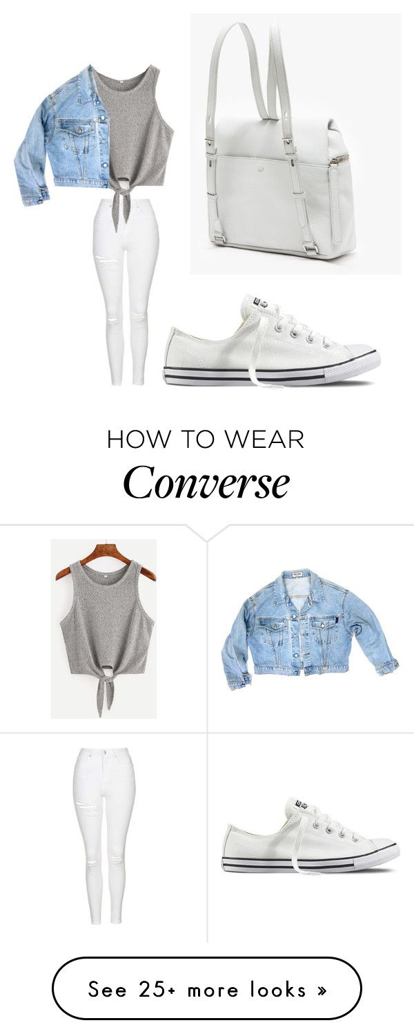 """""""basic"""" by anxiousnymph on Polyvore featuring Topshop, GUESS and Converse"""