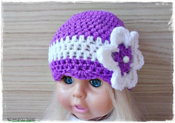 Crochet baby hat, Purple baby hat, Crochet girl hat, Purple Baby hat, Crochet toddler hat, Newborn hat, baby hat, Newborn baby Photo Prop