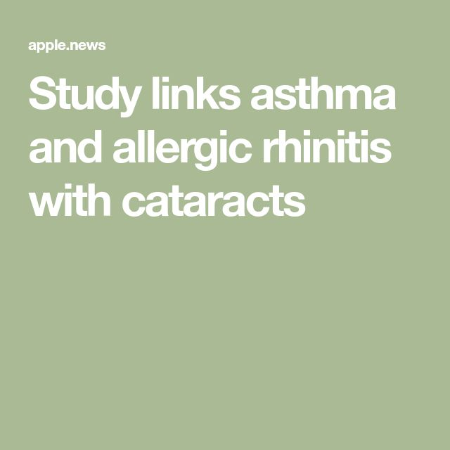 Study links asthma and allergic rhinitis with cataracts