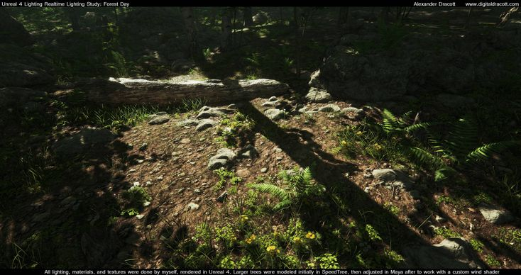 Forest Lighting study - Polycount Forum