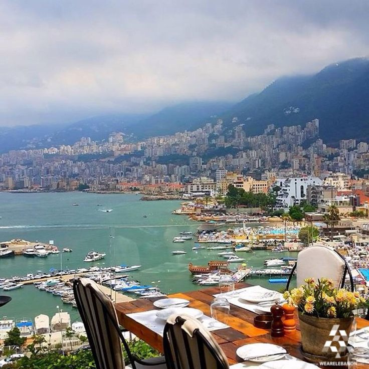 Baños Romanos Beirut:Food tastes better when you have it with such a view! By Elie Samarani