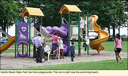 Hamlin Beach State Park has three playgrounds. This one is right near the swimming beach.