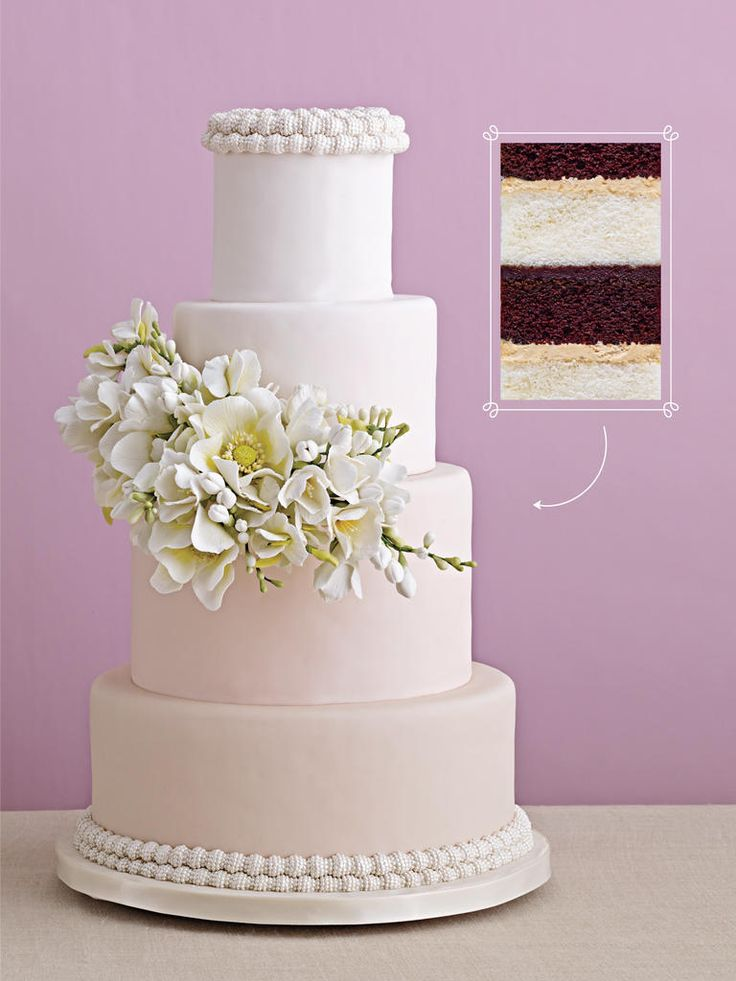 Gorgeous Wedding Cakes With Serious Flavor and Fillings | https://www.theknot.com/content/wedding-cake-flavors-fillings