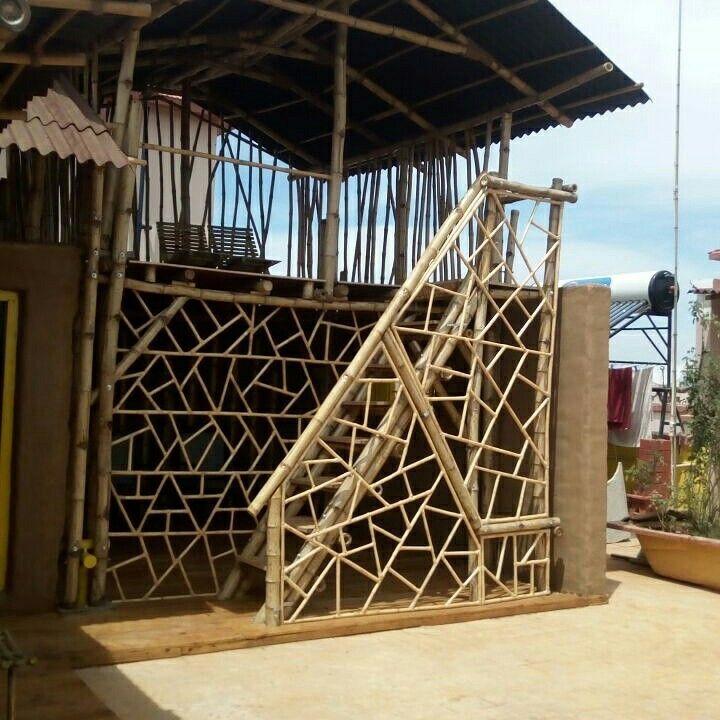 Rooftop bamboo structure , bangalore