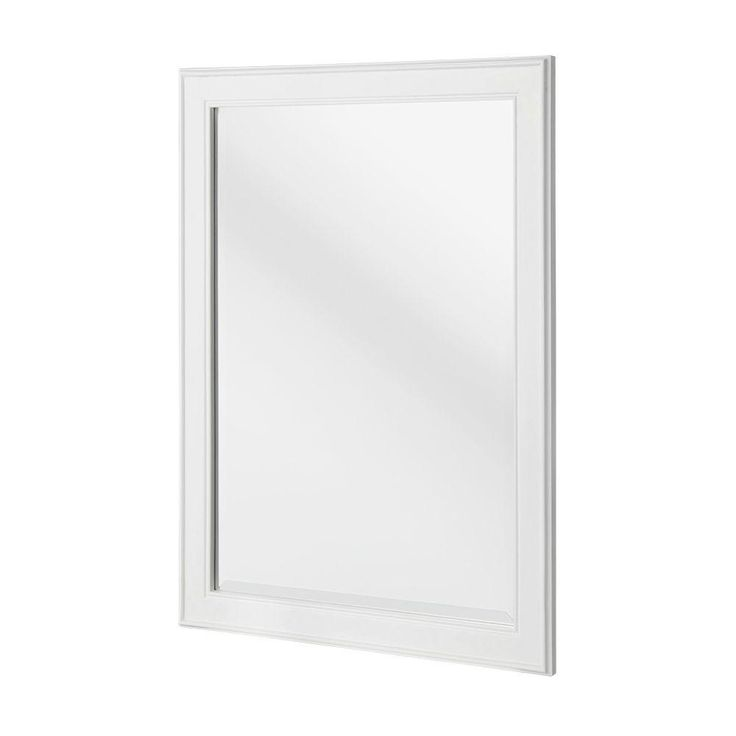 Home decorators collection gazette 32 in l x 24 in w framed wall mirror in white framed wall Home decorators collection mirrors