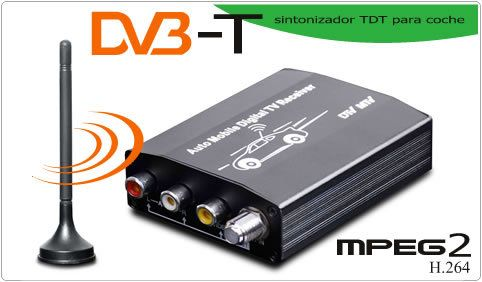 Buenos días amig@s!! #FelizSabado!! Hoy en carmultimediazone.comdestacamos nuestro #Sintonizador Digital #TDT #Coche MPEG2 salida y entrada de vídeo a un precio irresistible y disponible en 24 horas!! Estas son algunas de sus características: DVB-T para Europa Incluye 1 antena TDT con base imantada MPEG2 H.264 · Actualización a través de tarjeta SD · Estándar para DVB-T and MPEG2 · Búsqueda automática y actualización · Memoria para 1000pcs canales · Memorización tras el apagado
