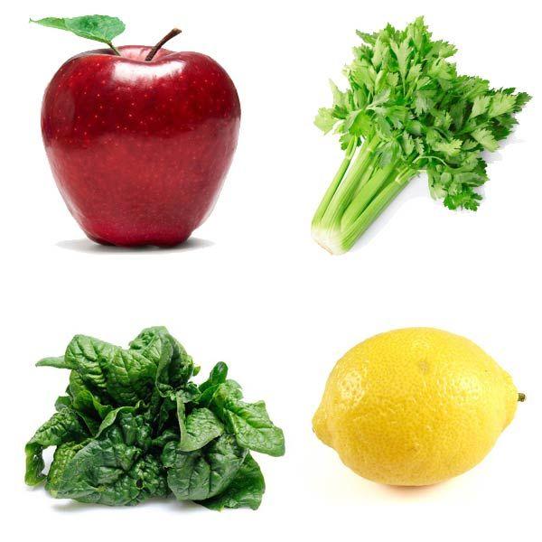 Centrifugati Depurativi | Rilassante e Dissetante: 1 mela, 1 gambo di sedano, 1 manciata di spinaci, 1/2 limone