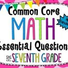 Instruction: Essential questions are an important part of students' learning. Post these next to your standards and your students will be able to assess how the...