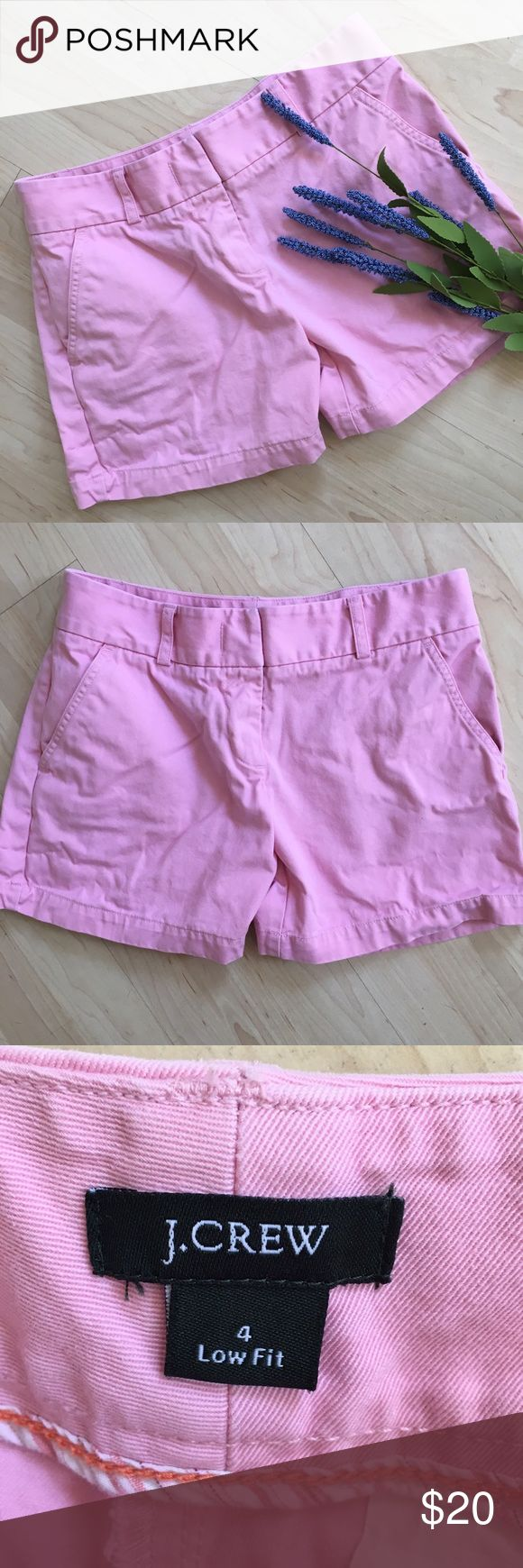 J. Crew light pink shorts Cute J. Crew cotton shorts. Broken in and comfy! J. Crew Shorts