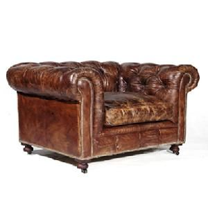 Chesterfield Armchair: I'm into this vintage leather armchair.  Unfortunately, it sits in an antique store in China.