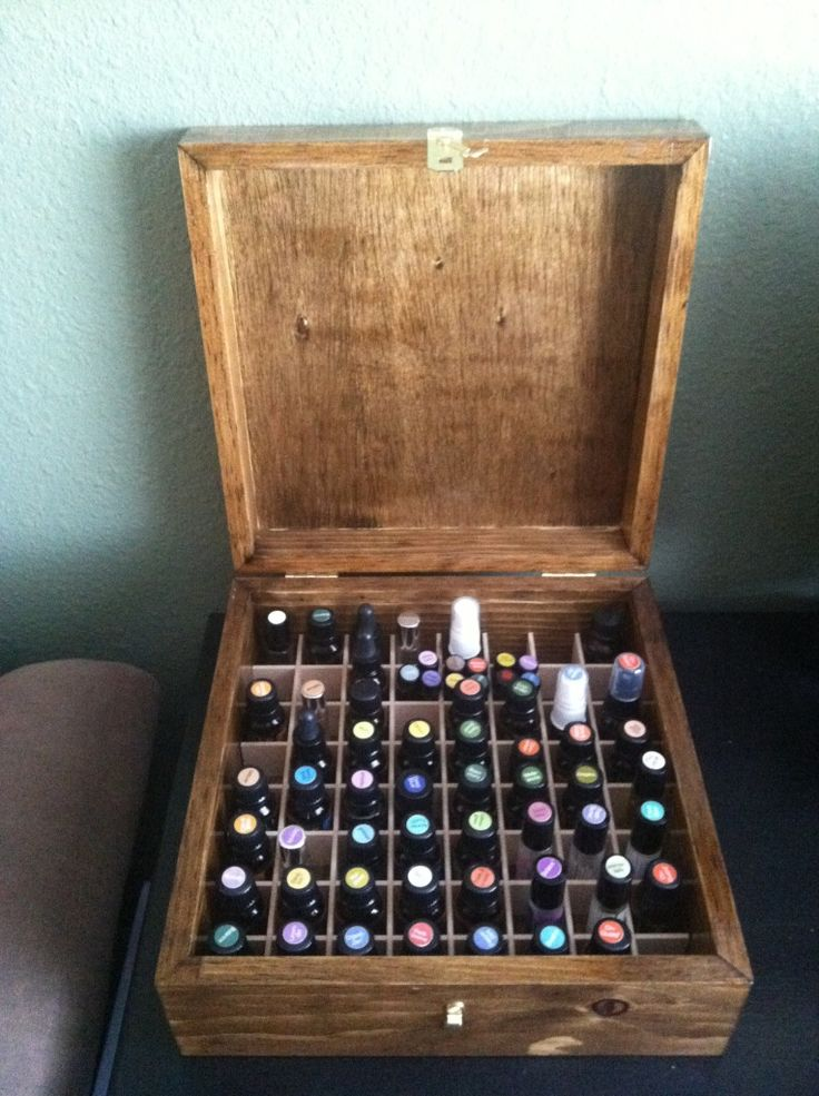 essential oils box // one day I will make one of these!