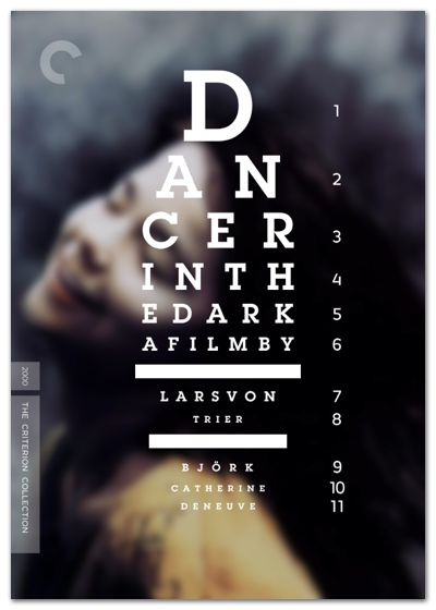 poster | Dancer in the Dark (premiered at the Cannes Film Festival in 2000)    #typography
