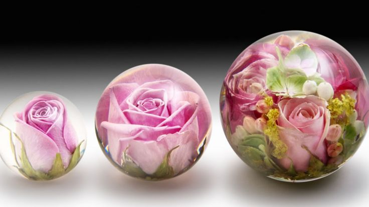 Flower Preservation Paperweights DIY Indoor Deco With Nature Pint