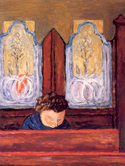J. Czapski, Contemplazione, olio su tela