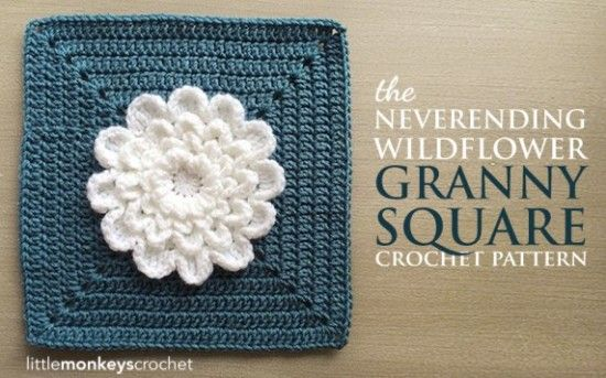 Never Ending Wildflower Granny Square Crochet Free Pattern