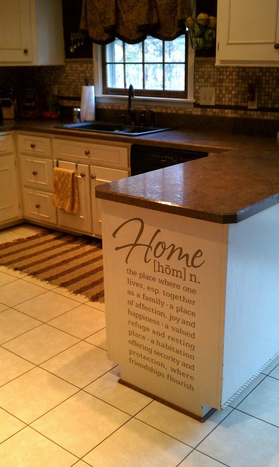 25 best ideas about kitchen decals on pinterest kitchen for Kitchen cabinets quotation