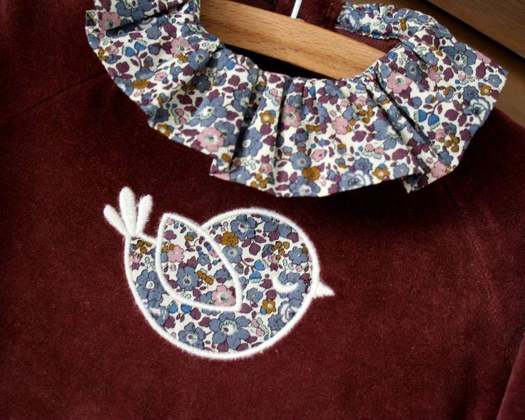 Pyjama prune liberty personnalisable Loelem http://www.papaetmaman.fr/pyjama-bebe-velours-prune-liberty-betsy-ann-manches-longues-naissance-6-mois.html