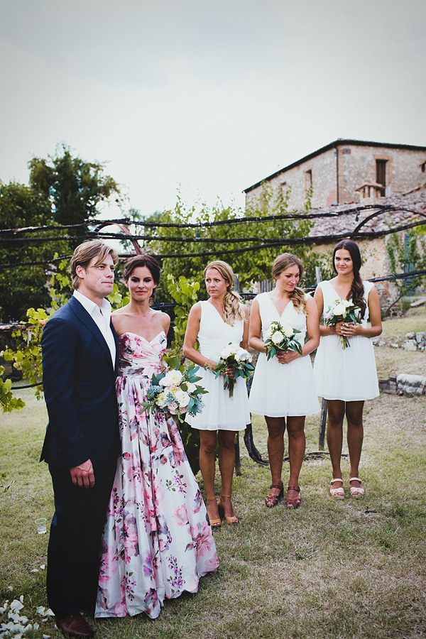A Floral Wedding Gown For Rustic Style Summer Garden Party Feast In Italy