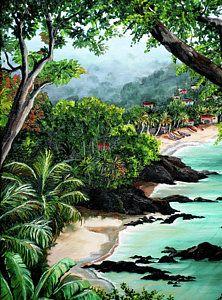 Tobago Painting - North Coast Tobago by Karin  Dawn Kelshall- Best