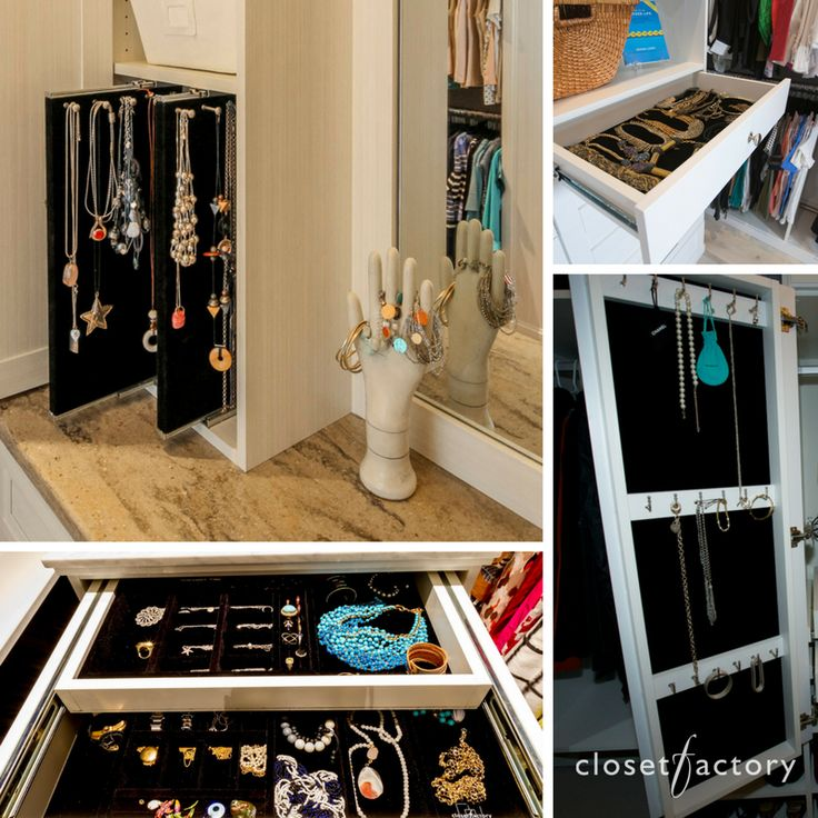 Showcase Your Jewelry With A Combination Of Both Vertical And Horizontal  Jewelry Drawers For Your Closet