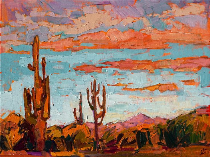 Desert Dusk - Contemporary Impressionism | Landscape Oil Paintings for Sale by Erin Hanson