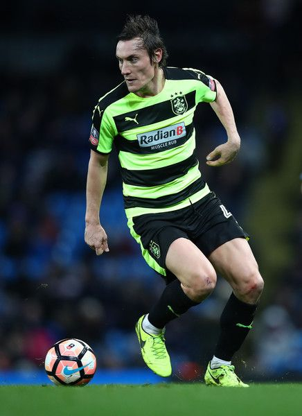 Dean Whitehead of Huddersfield Town in action during the The Emirates FA Cup Fifth Round replay match between Manchester City  and Huddersfield Town at Etihad Stadium on March 1, 2017 in Manchester, England.
